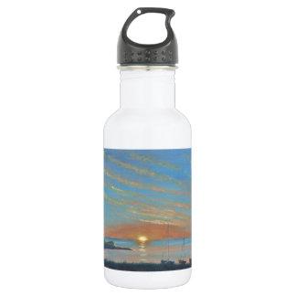 Lindisfarneの城の日の出 ウォーターボトル