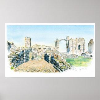 Lindisfarneの小修道院 ポスター
