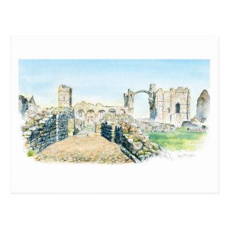 Lindisfarneの小修道院 ポストカード