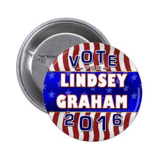 Lindseyグラハムの大統領2016年の選挙の共和党員 5.7cm 丸型バッジ
