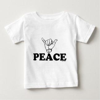 LineAの平和Shaka ベビーTシャツ