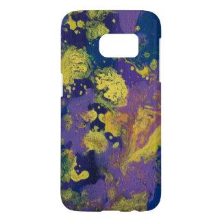 LineAの紫色の銀河系 Samsung Galaxy S7 ケース