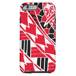LineAの赤いポリネシアの入れ墨 iPhone 6 タフケース