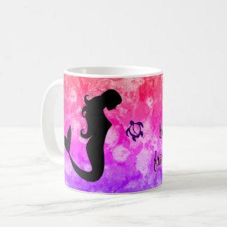 """LineA """"生命友人と美しいです…""""は 人魚 コーヒーマグカップ"""
