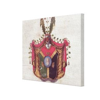 Linnaeus家族の紋章付き外衣 キャンバスプリント