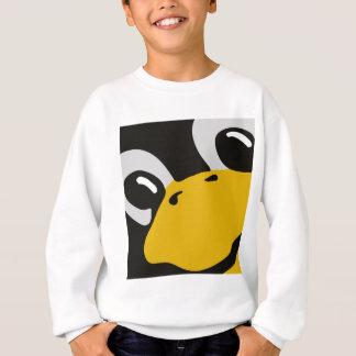 Linuxのタキシードのペンギンはポートレートを注目します スウェットシャツ