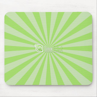 Linuxの真新しい緑のスターバスト マウスパッド