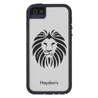 Lion Face Jungle Animal王の任意名前をカスタムする iPhone SE/5/5s ケース