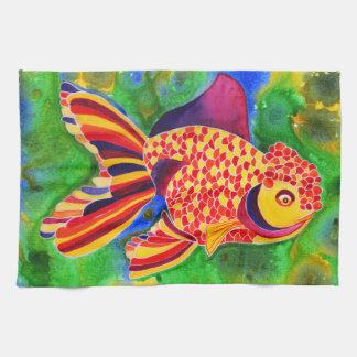Lionheadの金魚のデザインの台所か手タオル キッチンタオル