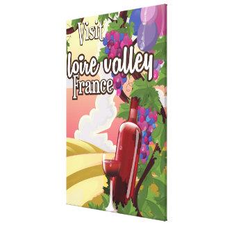 Lioreの谷の地域のフランスのヴィンテージ旅行ポスター キャンバスプリント