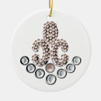 Lis宝石で飾られるフルーアDe セラミックオーナメント