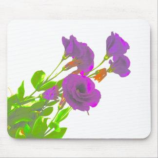 Lisianthusの紫色の花 マウスパッド