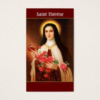 Lisieuxの祈りの言葉カードの聖者Thérèse 名刺