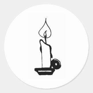 Litの蝋燭 丸型シール