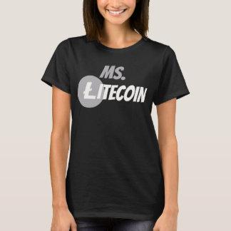 Litecoin氏のブロック・チェーンのCyrptocurrencyの中佐ワイシャツ Tシャツ
