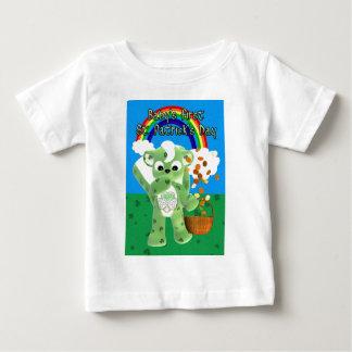 litteのCUとのベビーの最初セントパトリックの日、 ベビーTシャツ