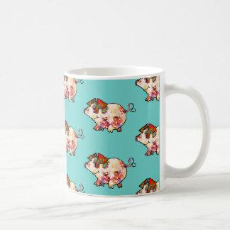 Litte宇宙愛ブタ コーヒーマグカップ