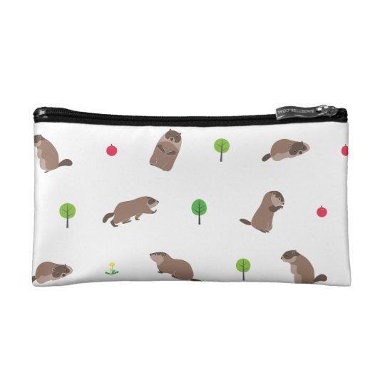 Little Groundhog コスメティックバッグ