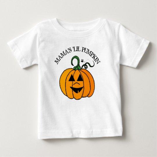 little PumpkinハロウィンShirtママの ベビーTシャツ