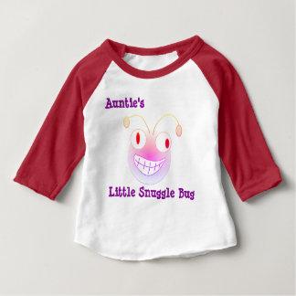 little Snuggle Bug伯母さんの ベビーTシャツ
