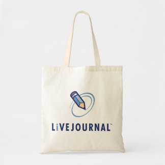 LiveJournalのロゴの垂直 トートバッグ