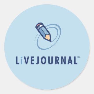 LiveJournalのロゴの垂直 ラウンドシール