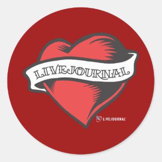 LiveJournalの入れ墨 ラウンドシール