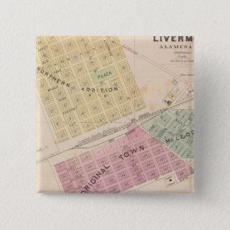 Livermoreの代表団サンノゼ 5.1cm 正方形バッジ