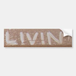 """Livinの""""テールゲートTalk バンパーステッカー"""