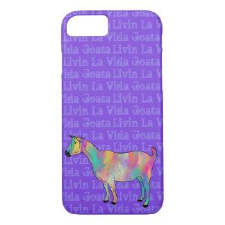 LivinのLaのVida Goataのおもしろいで色彩の鮮やかなヤギ動物の芸術 iPhone 8/7ケース