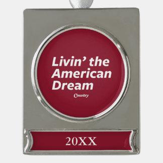 Livinアメリカン・ドリーム シルバープレートバナーオーナメント