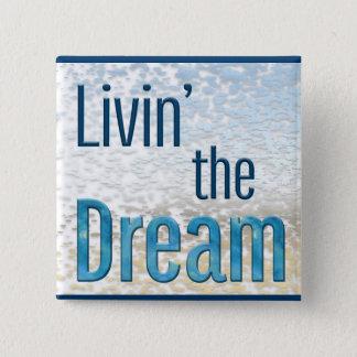 Livin夢 5.1cm 正方形バッジ