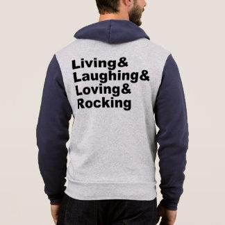 Living&Laughing&Loving&ROCKING (blk) パーカ