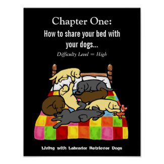 Living with Labradors Cartoon Posters