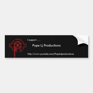 Lj Productions法皇のバンパーステッカー バンパーステッカー