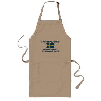 Lkgのよいスウェーデン語Mormor (祖母) ロングエプロン