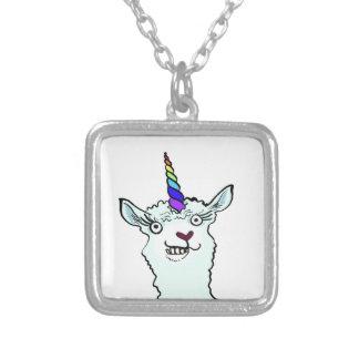 Llamacorn シルバープレートネックレス