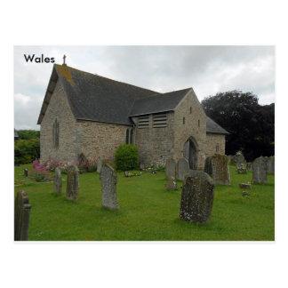 Llanigon教会- St. Eigon教会、Powys、ウェールズ ポストカード