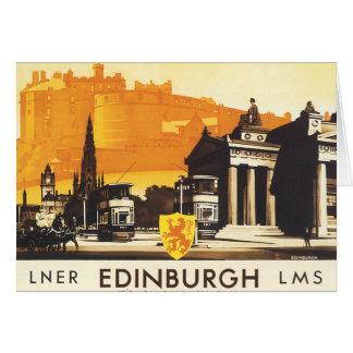 LNERの柵ポスターによるエジンバラ カード