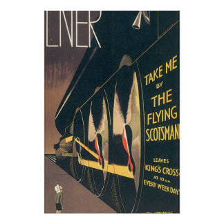 LNER飛んでいるなスコットランド人のヴィンテージ旅行ポスター ポスター