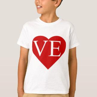 LO - VEの一致のハートのワイシャツ(2)の2 Tシャツ
