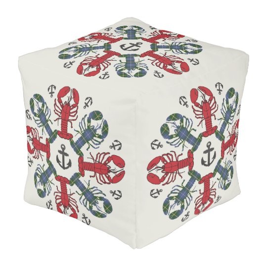 Lobster Snowflake Anchor N.S. Christmas pouf プーフ