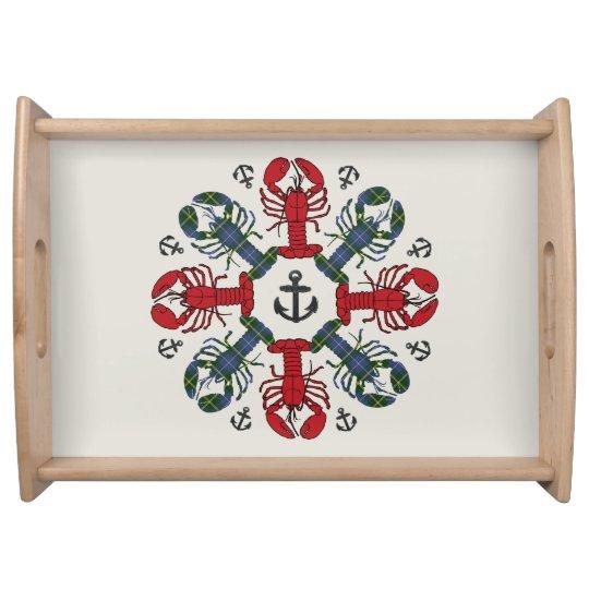 Lobster Snowflake Anchor N.S. Christmas tray トレー