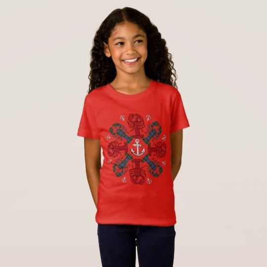 Lobster Snowflake Anchor N.S.Christmas ugly shirt Tシャツ