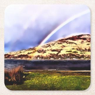 Lochranza及び虹の正方形のコースター スクエアペーパーコースター