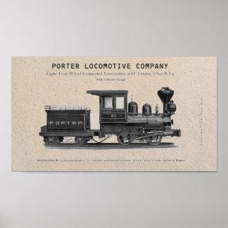 Locomotive Company H K PorterのクラスB-T4のプリント ポスター