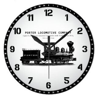 Locomotive Company H K PorterのクラスBT4の柱時計 ラージ壁時計