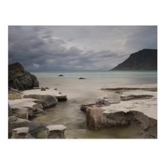 Lofoten - Skagsandenのビーチの郵便はがき文字無し ポストカード