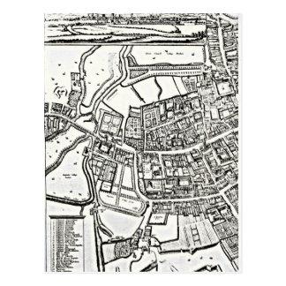 Logganのオックスフォードの東シートの地図 ポストカード