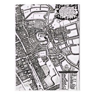 Logganのオックスフォードの西部シートの地図 ポストカード